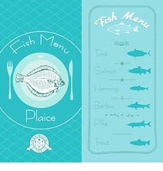 Fish menu set vector image