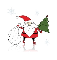 Santa Claus sketch for your design vector image