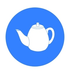 Teapot icon in black style isolated on white vector image