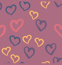 violet hearts seamless tile valentines day vector image