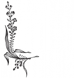 antique flower corner engraving vector image vector image