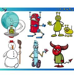 Cartoon Fantasy Characters Set vector image