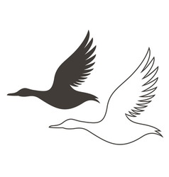 Duck outline silhouette vector