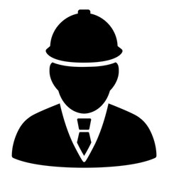 engineer flat icon vector image vector image