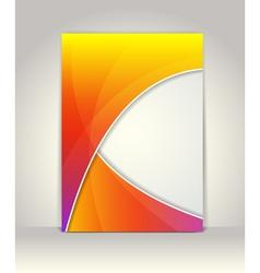 Flyer or brochure template vector image vector image