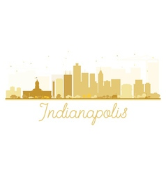 Indianapolis City skyline golden silhouette vector image vector image
