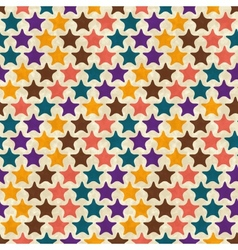 Retro seamless stars pattern vector image vector image