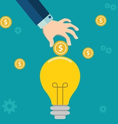 Smart investment flat design concept Colorful vector image vector image