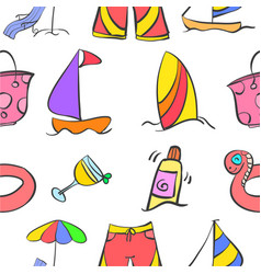 Summer holiday style pattern vector