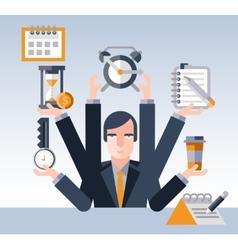 Time management businessman vector image vector image