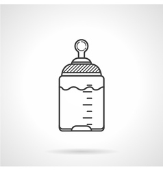 Black line icon for baby bottle vector image vector image