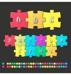 Colored alphabet puzzle vector image