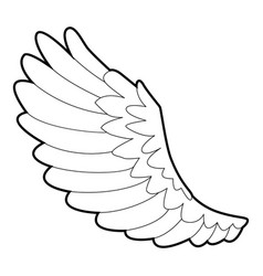 curve wing icon outline style vector image