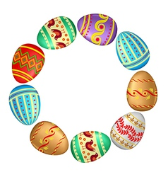 eggs frame vector image