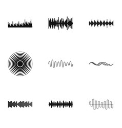 interference icons set simple style vector image vector image