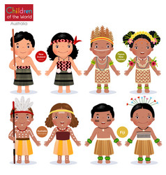 kids in different traditional costumes new vector image vector image