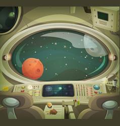 spaceship interior vector image vector image