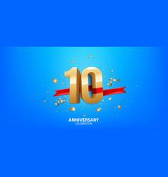 10th anniversary celebration vector
