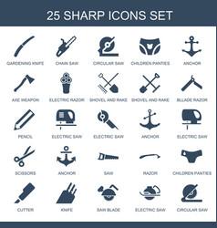 25 sharp icons vector