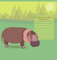 African hippopotamus vector