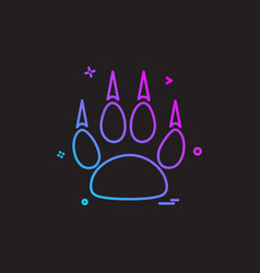 animal paws icon design vector image