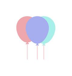 balloon air party icon design vector image