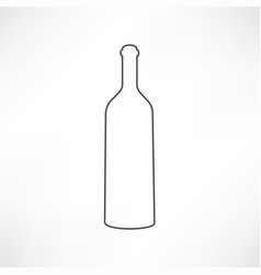 bottle of wine and a glass icon vector image