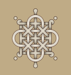 celtic knot - engraved - single chain - rod top vector image