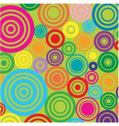circles on green background vector image vector image