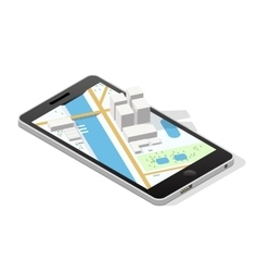 City on a smartphone screen vector image