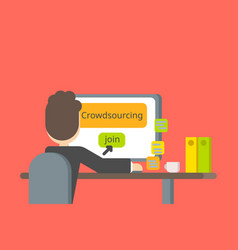 crowdsourcing or searching for ideas and people vector image