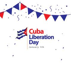 Cuba liberation day template design vector