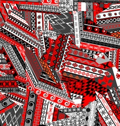Ethnic patchwork background vector