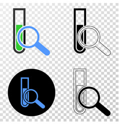 explore test-tube eps icon with contour vector image