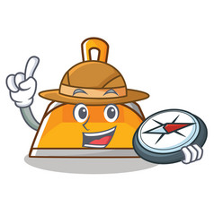 explorer dustpan character cartoon style vector image