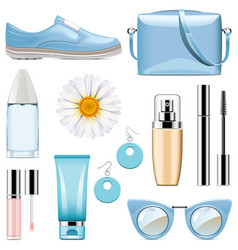 Fashion accessories set 3 vector