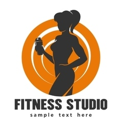 Fitness center or studio template vector