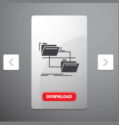 folder file management move copy glyph icon in vector image