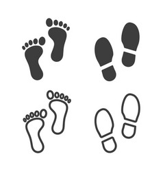 footprints icons images vector image