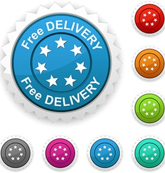 Free delivery award vector