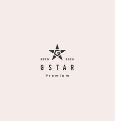 G star diamond logo hipster retro vintage icon vector