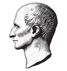 Gaius iulius caesar vintage vector
