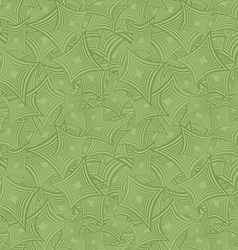 Green seamless curved shape pattern background vector image