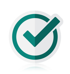 green tick checkbox isolated on vector image