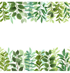 Greenery seamless double border vector