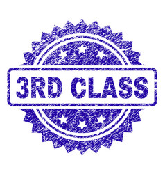 grunge 3rd class stamp seal vector image
