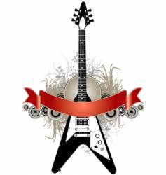 guitar banner background vector image