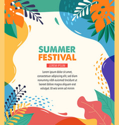 Hello summer festival and fair banner design with vector