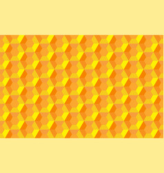 honeycomb hexagon abstract seamless 3d vector image