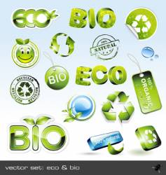 icon set eco and bio vector image